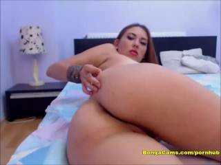 Sexy Brunette Playing with her Pussy and Ass with Pleasure