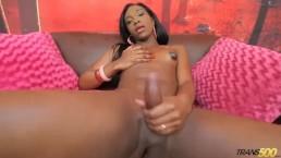 Ebony TS Kimberly Ebano Strokes it