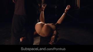 Redhead damsel getting pussy spread for bondage masturbation