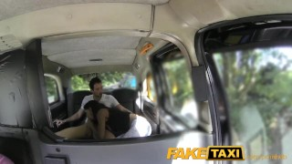 Preview 6 of FakeTaxi Spanish couple have hot sex in back of taxi