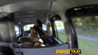 Spanish couple sex faketaxi in hot taxi of back have blowjob big