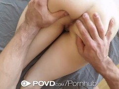 POVD – Little redhead Alex Mae gets her pussy eaten