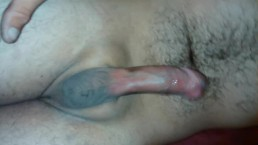Jerking off small dick and balls