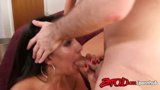 Hot Cougar Sandwich Threesome! Hard raw