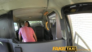 Cock faketaxi facial teasing gets big stunner milf car