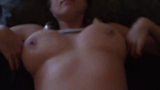 Preview 2 of Giant Heavy Natural Titties, POV Fuck Starting In A Silver Bikini Top/Skirt