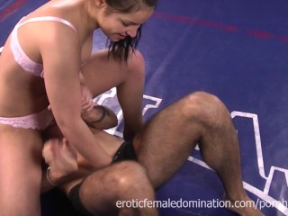 Private Sex Party Video Boxer Dominates Her Man In The Ring, Babe Brunette Fetish Rough Sex