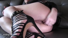 Amateur Halloween Babe Anal Close-up & Orgasm