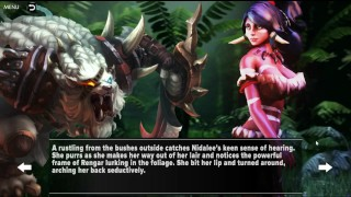 Nidalee Queen Of The Jungle - League Of Legends Porn Parody