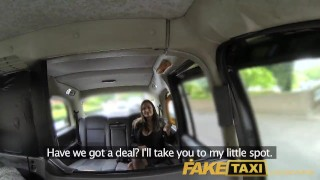 Preview 5 of FakeTaxi Back seat fucking for hot Romanian babe with huge natural tits