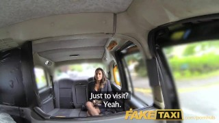 FakeTaxi Back seat fucking for hot Romanian babe with huge natural tits Latina sister