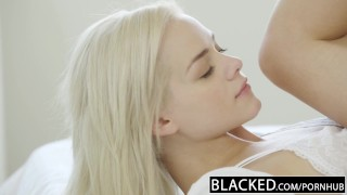 Bbc elsa takes her jean blacked first big cock