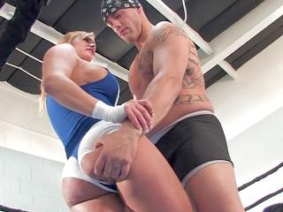 Lubed boob sex