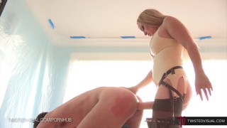 Aiden Starr and Slut Bottom Chris Boy Butt Electro Anal Stretching  bendover boyfriend extreme anal toys ass fuck bdsm slave pegging strapon gaping femdom blonde monster dildo twistedvisual big boobs natural tits huge toys