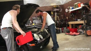 Busty hotties Dava and Sara fuck the mechanics Bbc big