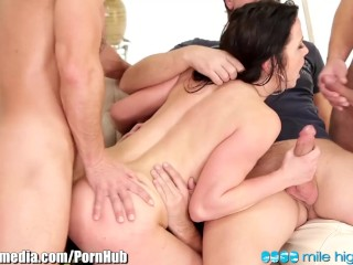4 Guys Gangbang and DP Horny Czech