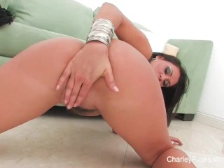 Super sexy Charley Chase fingers her amazing pussy