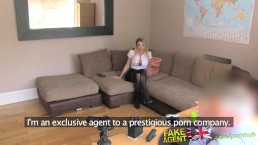 FakeAgentUK Filthy talking sexy British escort wants a way into porn