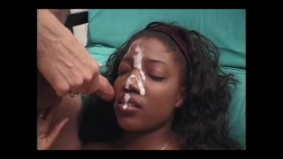 Darkskin faces covered in cumpilation