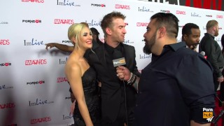 PornhubTV Sophia Knight & Danny D Red Carpet 2015 AVN Interview