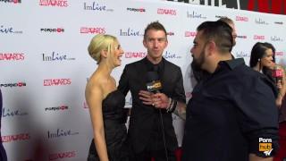PornhubTV Sophia Knight & Danny D Red Carpet 2015 AVN Interview Bdsm instructional