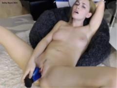 Bailey Rayne Takes a Huge Blue Dildo Live on Cam