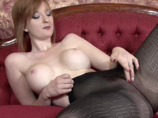 The Adult Video Experience Presents Teasing in opaque pantyhose