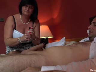 George and his friend's mom taboo session – footjob handjob