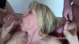 My Bukkake Blast!  canada facials canadian mom quebec cumshot cum ontario mature cougar mother bukkake swallow milf bukkake cum on face cum in mouth