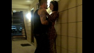 Neighbor on hot amazing drunk halloween gives blowjob teen outside