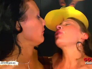 Two Babes fucked hardcore side by side