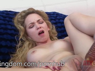 Angel Smalls using a thin vibrator on her soft pussy