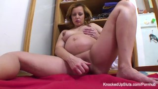 With blonde a fucks knocked herself toy up solo boobs