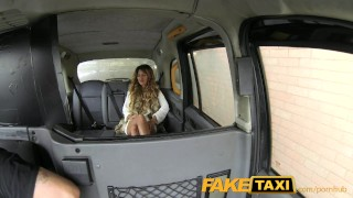 FakeTaxi Stunning gold digger with a great body porno