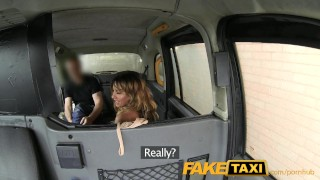 FakeTaxi Stunning gold digger with a great body Teenager young