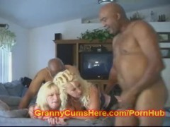 Two GRANNIES ass FUCKED Together