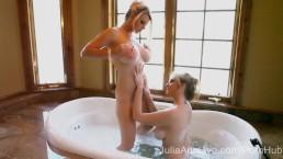 2 Wet MILFS! Julia Ann & Vicky Vette!
