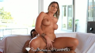 PureMature - Curvy Brianna Brooks is fucked on the couch