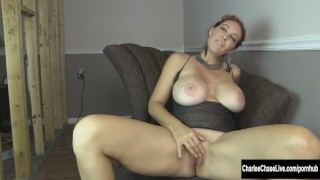 Charlee Chase Pleases Her Horny Pussy Black gaping