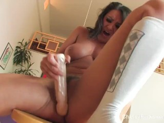 Hottie charley chase rubs amp fingers her wet pussy 3