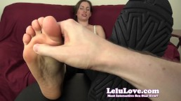 Lelu Love-POV Feet Tickling With Fingers Feathers