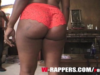 AFRICA SEXXX CAME TO AUDITION TO BE A RAPPER, WITH HER BIG NATURAL TITS