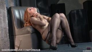 Amazing red head fashion model Sam Brook gone bad shows how she masturbates Sucking black