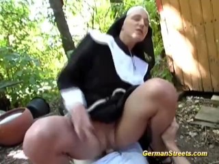 Take It Slut Naughty Nun Fucks On Street, Blonde Public Teen Role Play