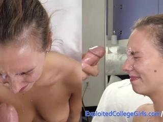 Cute Amateur Anal and Big Cum Facial in Porn Debut