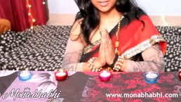 indian aunty mona bhabhi celebrating diwali
