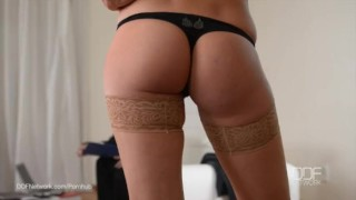 Preview 1 of Super Hero fucks lonesome wife Kitana Lure in her Ass