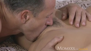 MOM After oil massage and ass licking she gives awesome POV blowjob Big family