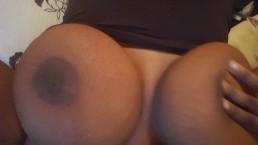 Huge titties soaking pussy up close cum