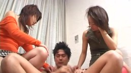 CFNM Japanese senzuri femdom duo inflicts carnage Subtitled